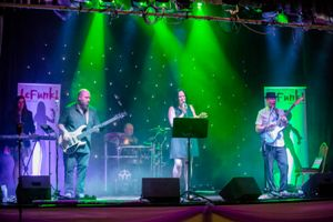 Manchester Wedding Band LeFunk Bowdon Rooms Altrincham on stage